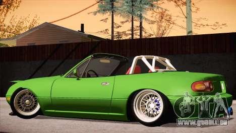 Mazda Miata Hellaflush pour GTA San Andreas vue intérieure
