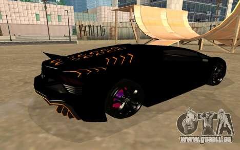 GTA 5 Zentorno pour GTA San Andreas vue intérieure