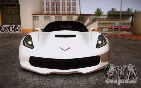 Chevrolet Corvette Stingray C7 2014 pour GTA San Andreas vue de côté