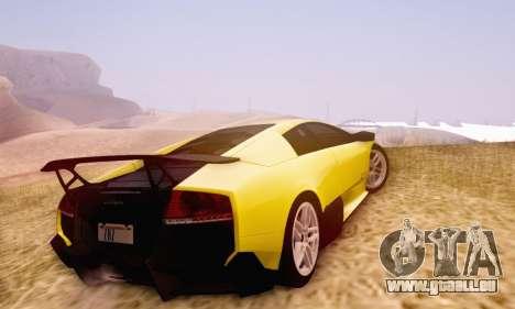 Lamborghini Murcielago LP670-4 SV pour GTA San Andreas vue intérieure