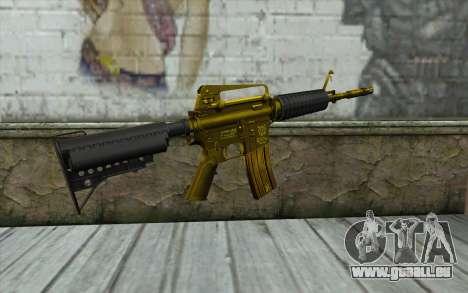 Or M4 sans vue pour GTA San Andreas deuxième écran