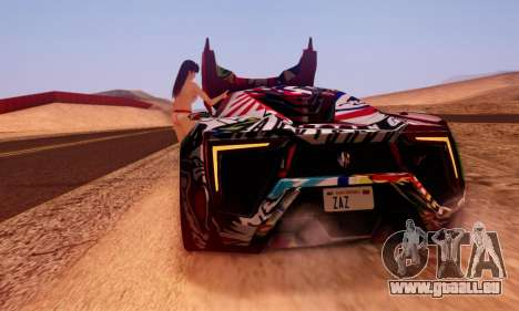 W-Motors Lykan Hypersport 2013 Stiker Editions für GTA San Andreas linke Ansicht