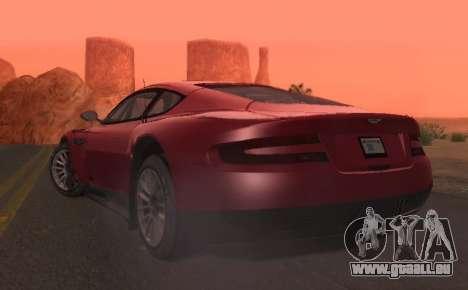 Aston Martin DBR9 für GTA San Andreas Rückansicht
