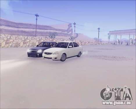 Lada 2170 Priora Tuneable pour GTA San Andreas vue intérieure