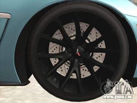 Chevrolet Corvette Grand Sport pour GTA San Andreas vue intérieure