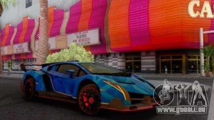 Lamborghini LP750-4 2013 Veneno Blue Star pour GTA San Andreas