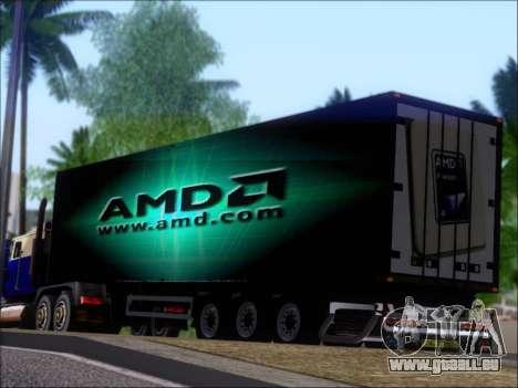 Remorque AMD Phenom X4 pour GTA San Andreas roue