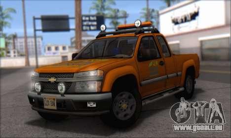 Chevrolet Colorado Cleaning für GTA San Andreas zurück linke Ansicht
