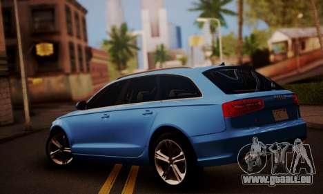 Audi S6 Avant 2014 pour GTA San Andreas laissé vue