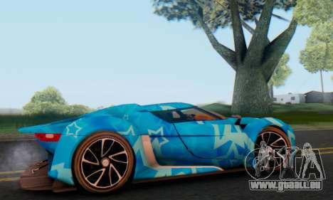 Citroen GT Blue Star pour GTA San Andreas sur la vue arrière gauche