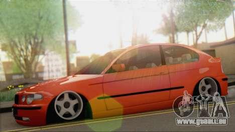 BMW 316i Compact für GTA San Andreas zurück linke Ansicht