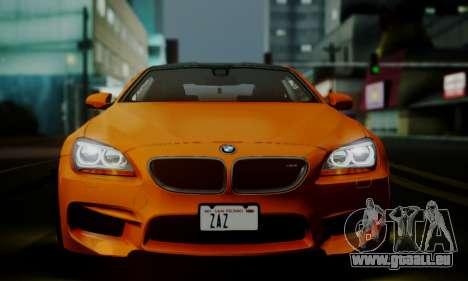 BMW M6 F13 2013 pour GTA San Andreas salon