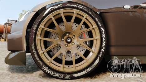Honda S2000 pour GTA 4 Vue arrière