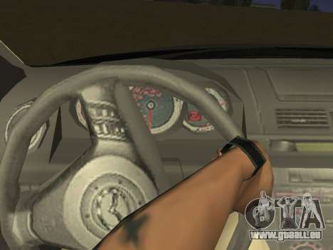 Mazda 3 v2 pour GTA San Andreas vue intérieure