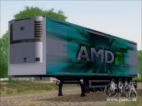 Remorque AMD Athlon 64 X2 pour GTA San Andreas laissé vue