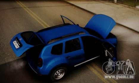 Lada Duster pour GTA San Andreas vue de dessous