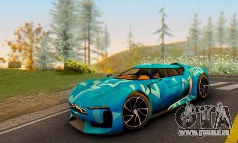 Citroen GT Blue Star pour GTA San Andreas vue arrière