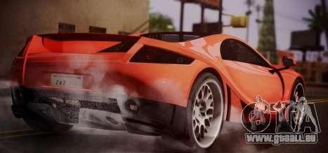 Spano Black pour GTA San Andreas laissé vue