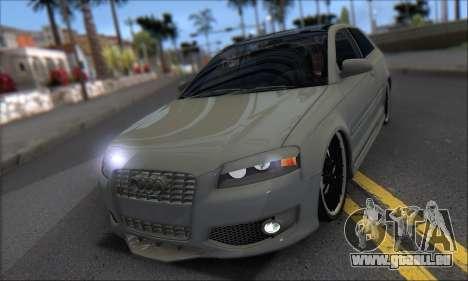 Audi S3 2006 Custom für GTA San Andreas Innenansicht
