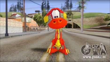 Tweek the Dragon from Fur Fighters Playable pour GTA San Andreas deuxième écran