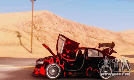 Mitsubishi Lancer EVO X Abstraction pour GTA San Andreas vue arrière