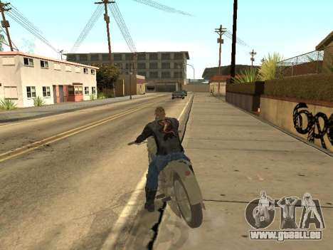 Oural M72 pour GTA San Andreas vue intérieure