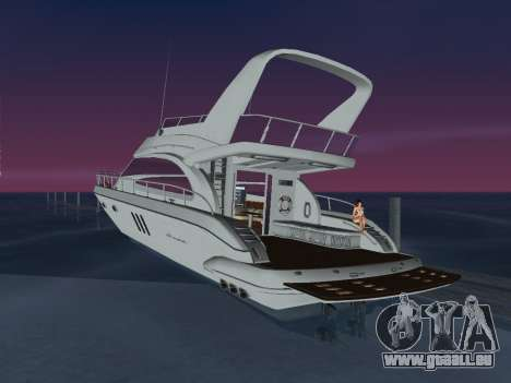 Yacht für GTA Vice City linke Ansicht