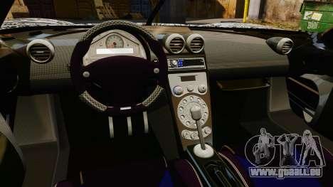 Koenigsegg CCX v1.5 pour GTA 4 est une vue de l'intérieur
