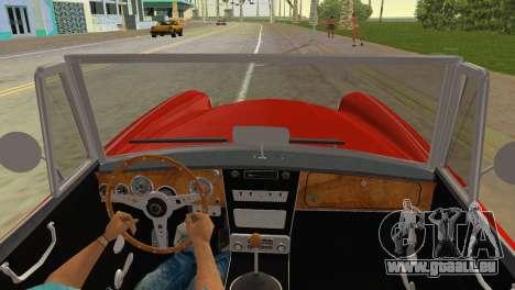 Austin-Healey 3000 Mk III pour GTA Vice City sur la vue arrière gauche