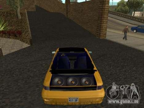 Alpha HD Cabrio pour GTA San Andreas sur la vue arrière gauche