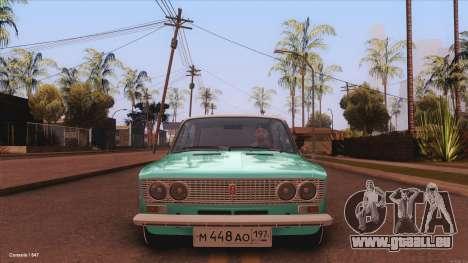 VAZ 2103 la Havane pour GTA San Andreas sur la vue arrière gauche
