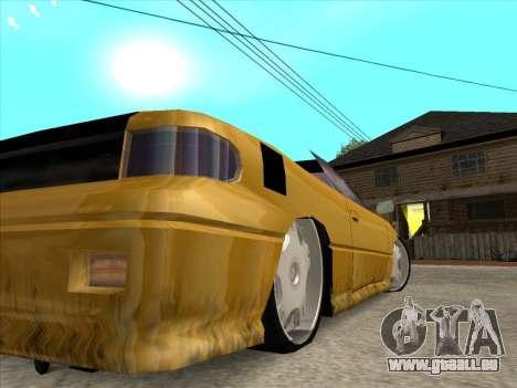 Alpha HD Cabrio pour GTA San Andreas vue de côté