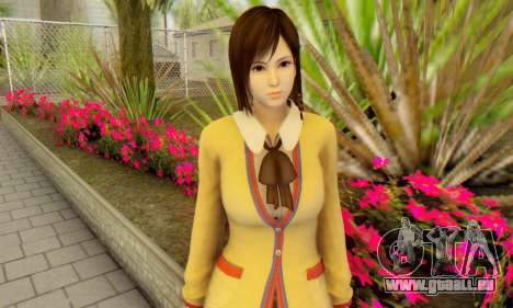Kokoro wearing a school uniform (DOA5) für GTA San Andreas dritten Screenshot