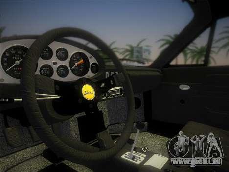Ferrari 246 Dino GTS 1972 pour GTA Vice City vue latérale