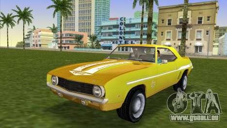 Chevrolet Camaro Cab 1969 pour GTA Vice City