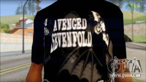 A7X Deathbats Fan T-Shirt Black pour GTA San Andreas troisième écran