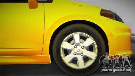 Nissan Versa für GTA Vice City zurück linke Ansicht