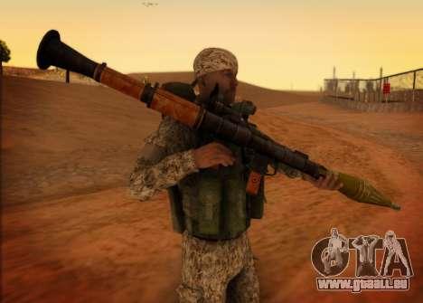 Le RAA. Grenadier de la FCRR pour GTA San Andreas deuxième écran