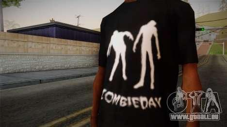 Zombie Polo Shirt pour GTA San Andreas troisième écran