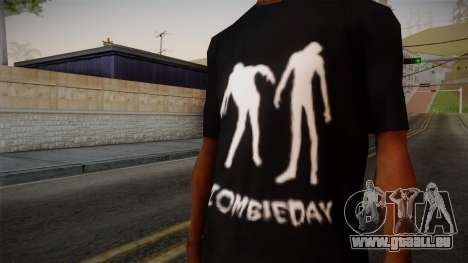 Zombie Polo Shirt für GTA San Andreas dritten Screenshot