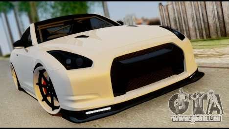 Nissan GT-R V2.0 pour GTA San Andreas vue de dessous