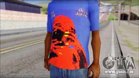 Black Sabbath T-Shirt v3 für GTA San Andreas dritten Screenshot