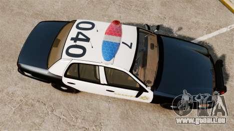 Ford Crown Victoria Sheriff [ELS] Marked pour GTA 4 est un droit