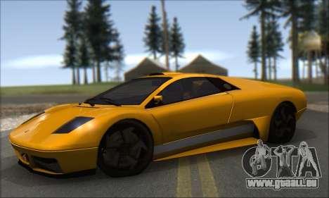 Pegassi Infernus pour GTA San Andreas sur la vue arrière gauche
