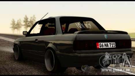 BMW M3 E30 pour GTA San Andreas laissé vue