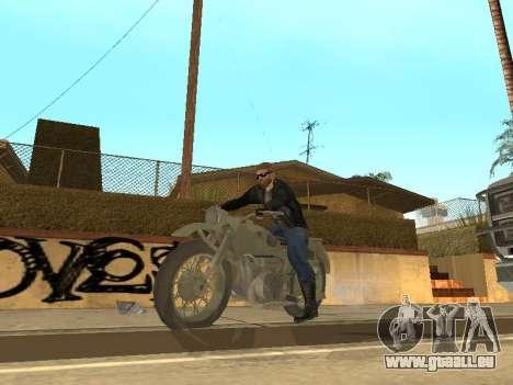 Oural M72 pour GTA San Andreas vue arrière