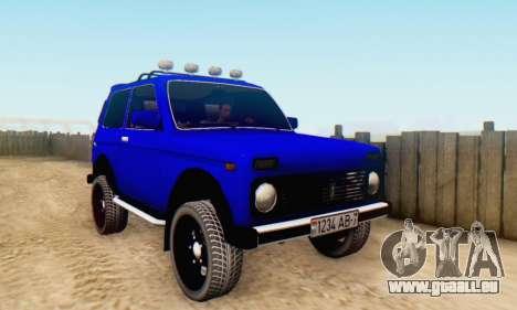 VAZ 21213 pour GTA San Andreas vue intérieure