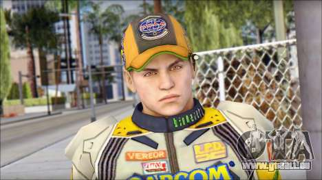 Piers Amarillo Gorra pour GTA San Andreas troisième écran