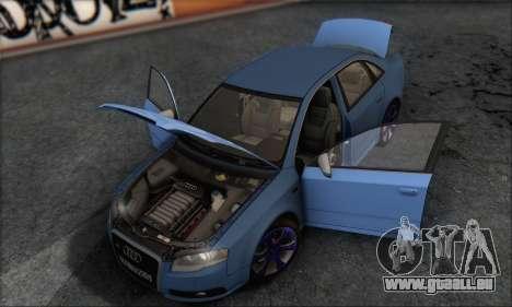 Audi S4 4.0 Quattro 2006 für GTA San Andreas obere Ansicht
