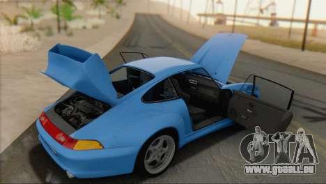 Porsche 911 GT2 (993) 1995 V1.0 SA Plate pour GTA San Andreas vue arrière